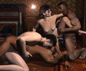 3d hardcore sex orgy