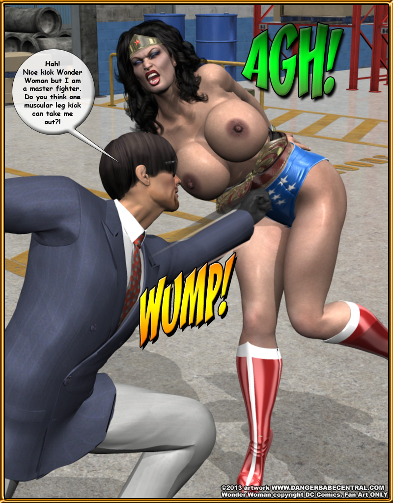 wonder woman 3d bdsm